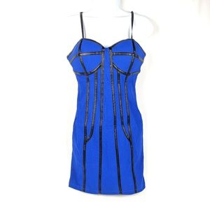 Body Central Blue Bandage Dress